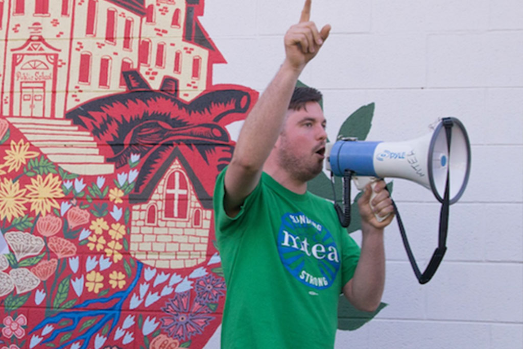 bower-action-with-a-bullhorn
